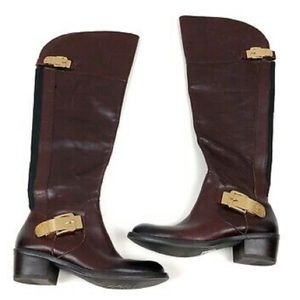 Vince Camuto tall brown leather riding boots - 8.5